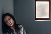 Close up of a teenage human trafficking victim